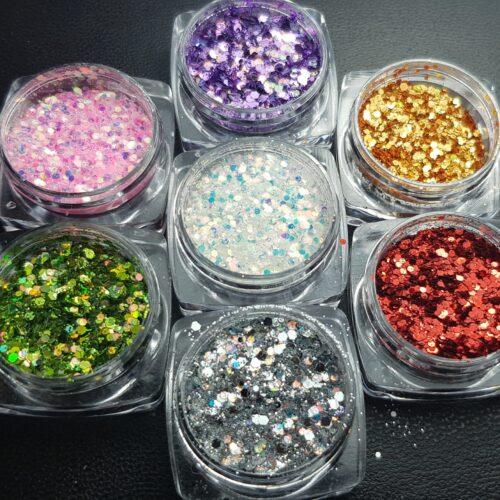 Glitters en pigmenten